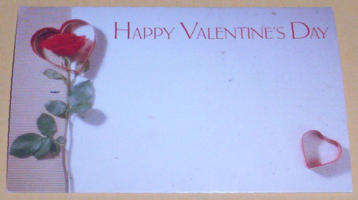 Add a Happy Valentine's Day card that you may personalize for $0.50,